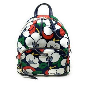 Kate Spade Medium Backpack Dawn Nylon Bag Floral